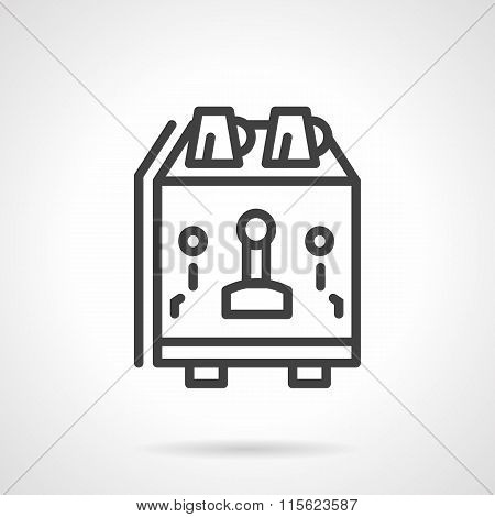 Coffee equipment simple line vector icon.