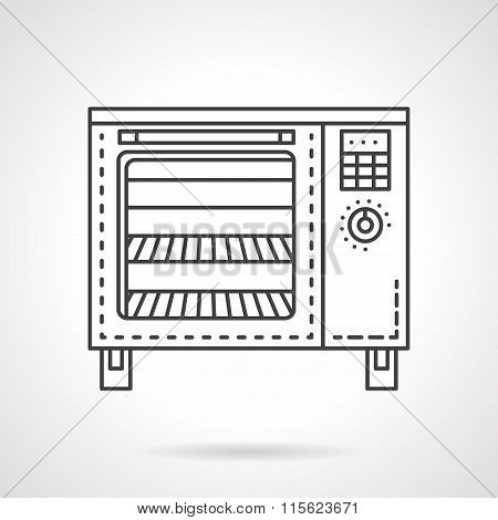 Bakery equipment flat line vector icon. Stove