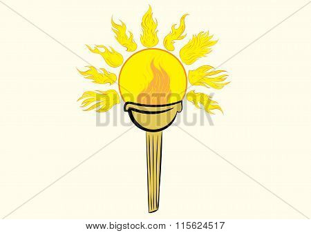 Torch with the sun