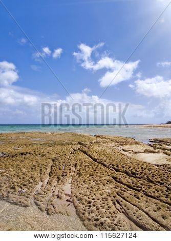 Haimuru Beach Of Okinawa Island In Japan.
