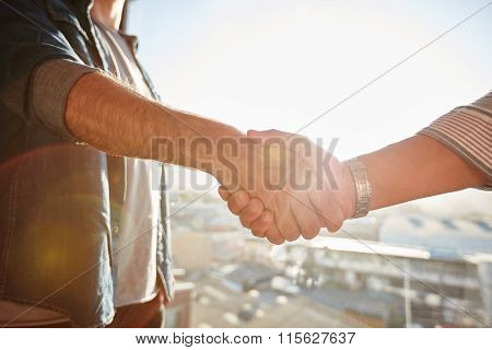 Two Males Shaking Hands