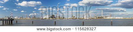 Antwerp Harbor Refinery Panorama