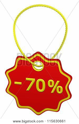 Discount - 70 % Tag