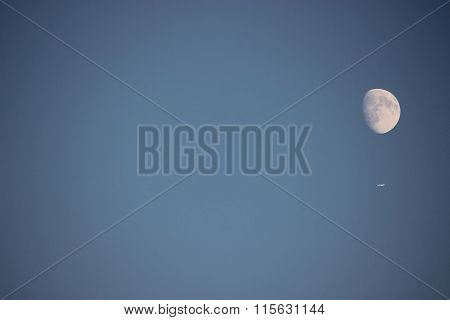plane, moon