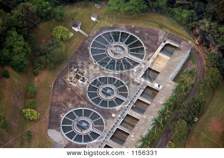 Aerial View Of A Water Treatment Plant2