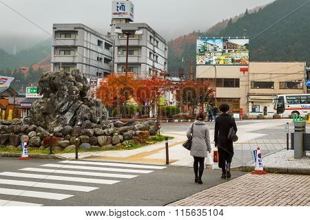 NIKKO JAPAN - NOVEMBER 17 2015: Nikko is a town at the entrance to Nikko National Park most famous for Toshogu - most lavishly decorated shrine and the mausoleum of Tokugawa Ieyasu