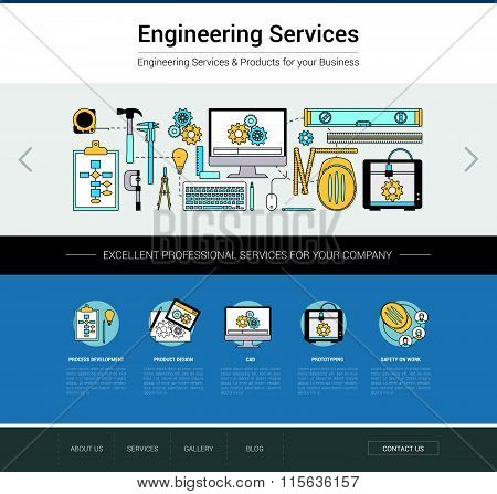 Engineering Web Template