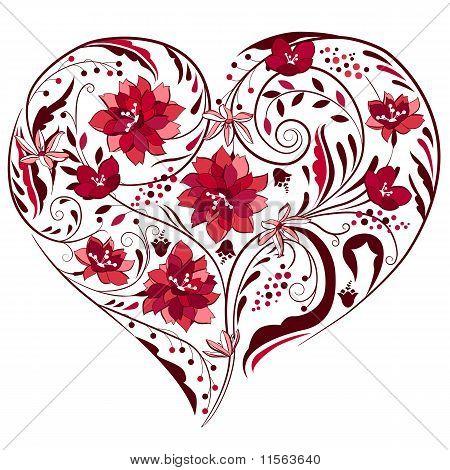 Heart shape made of flowers