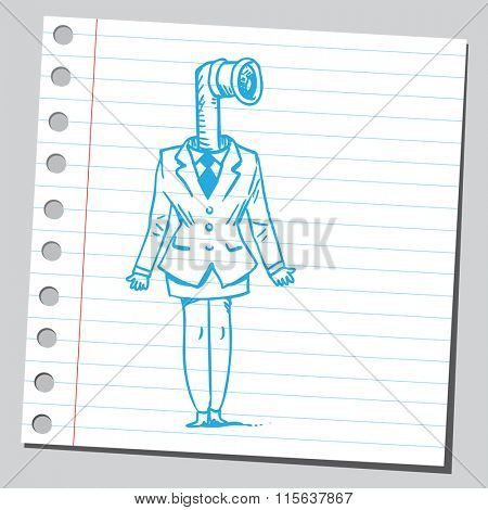 Businesswoman periscope
