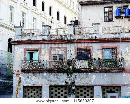 Slum Facade Of House