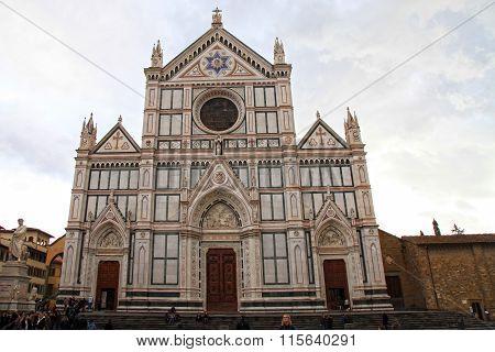 Basilica Of Santa Croce, Florence, Tuscany, Italy.