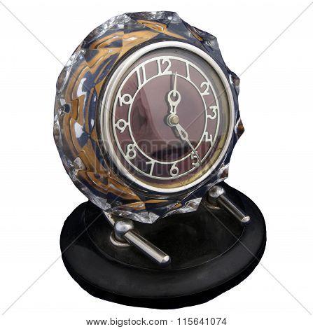 Vintage Clock In The Crystal Frame