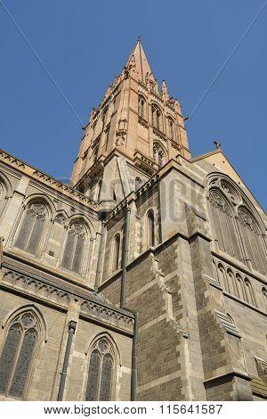 Church against blue sky