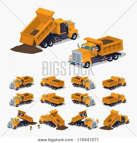 Loaded orange dumper