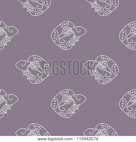 Seamless pattern with  Maya hieroglyphs