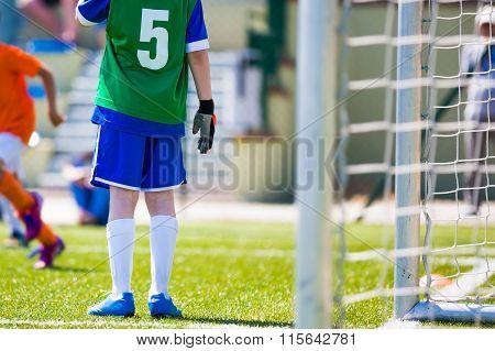 Young Football Soccer Goalkeeper