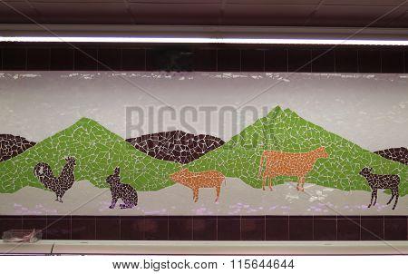 Supermarket Mosaic Display