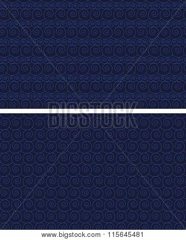 Seamless pattern waves set