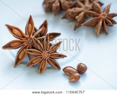 Anise Star And Seeds