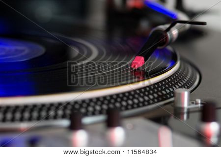 Turntable Playing Vinyl Disc