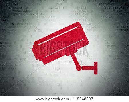 Security concept: Cctv Camera on Digital Paper background