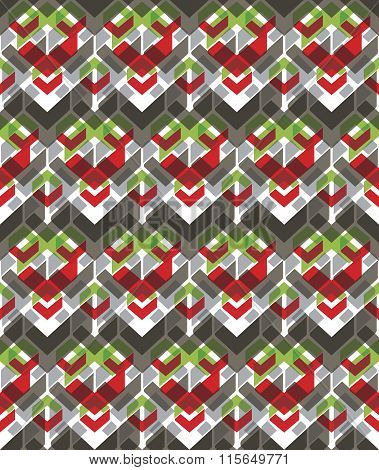 Colorful Stylized Symmetric Endless Pattern, Transparent Continuous Creative Artificial Composition,