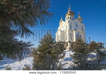 Orthodox Cathedral In Winter