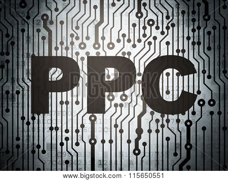 Marketing concept: circuit board with PPC