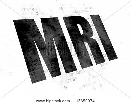 Healthcare concept: MRI on Digital background