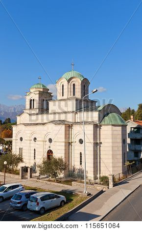 Church Of Saint Sava In Tivat, Montenegro