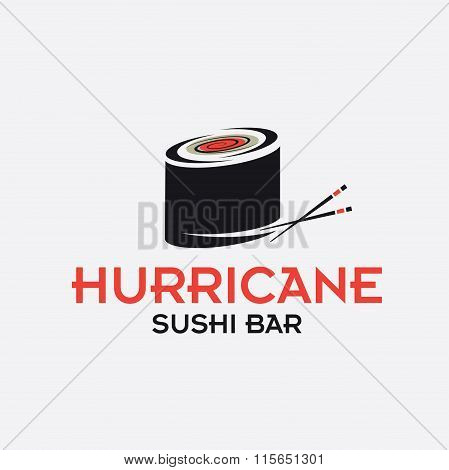 Hurricane Sushi Bar Vector Design Template