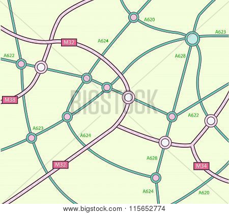 Abstract  Topography map on green Background vector