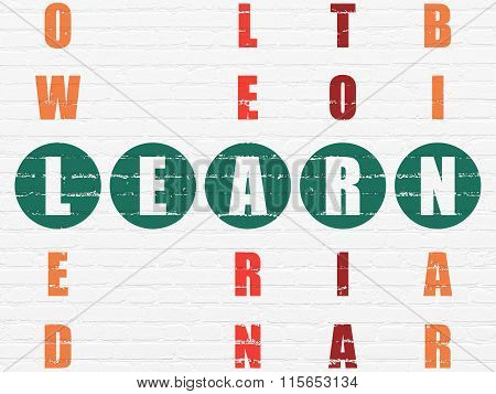 Education concept: Learn in Crossword Puzzle