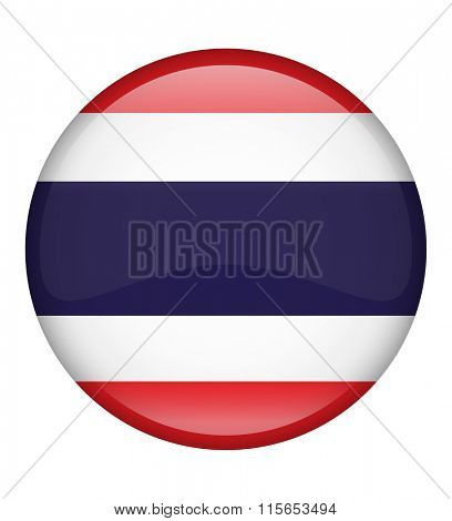 Thailand Button Flag