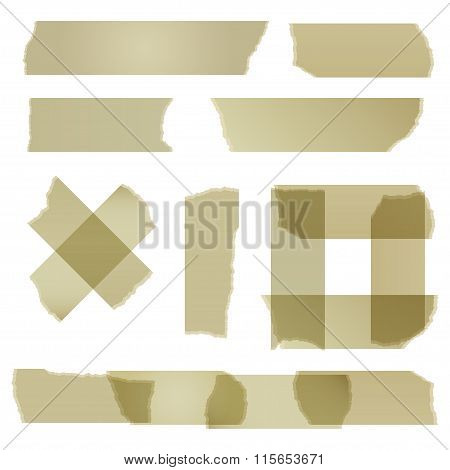 Sticky Tape Isolated On White. Vector Illustration