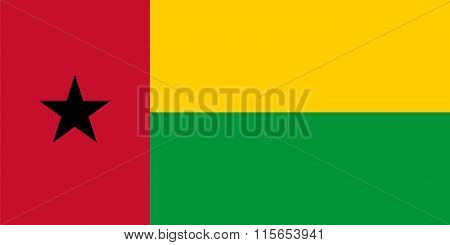 Standard Proportions For Guinea-bissau Flag