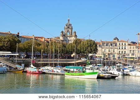 The Big Clock of La Rochelle, a view of the sea (Charente Maritime France)