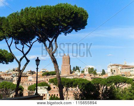 Augustus forum in Rome
