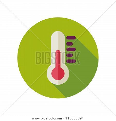 Thermometer flat icon. Meteorology. Weather