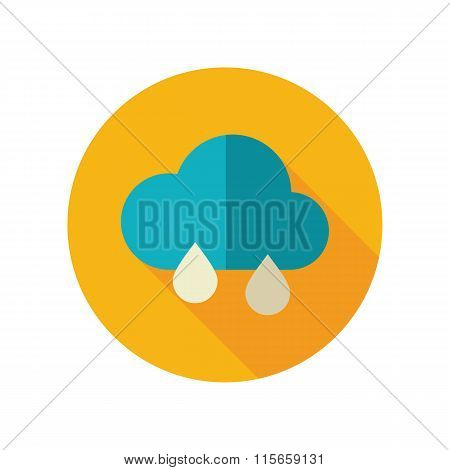 Rain Cloud flat icon. Meteorology. Weather