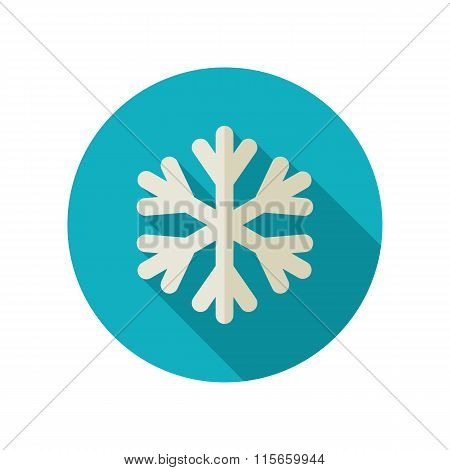Snowflake Snow flat icon. Meteorology. Weather