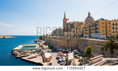 beautiful panoramic view on Valletta  in Malta