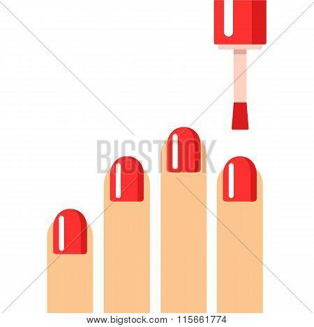 Manicure Nails Illustration