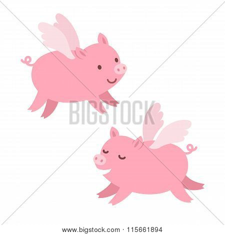 Cute Flying Pigs