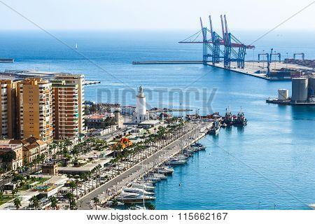 View of Malaga port