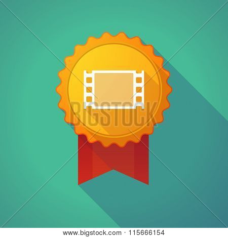 Long Shadow Badge Icon With A Film Photogram