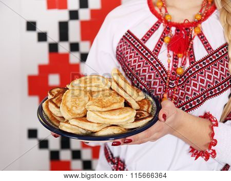plate of small pancakes