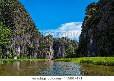 Tam Coc - Bich Dong tourist destination near Ninh Binh, Vietnam