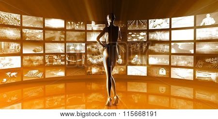 Multimedia Technology Digital Devices Information Concept Art