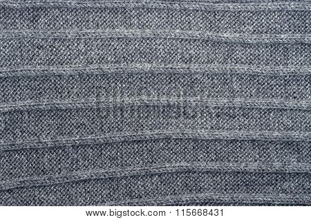 Grey Striped Knit Background